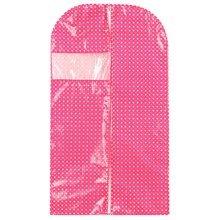Set of 3 Storage Garment Shoulder Covers Suit Dust Covers Hanging Coat Pockets 106x60x25CM(Pink)