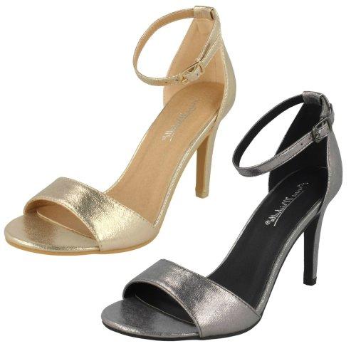 Ladies Anne Michelle High Heel Metallic Sandals