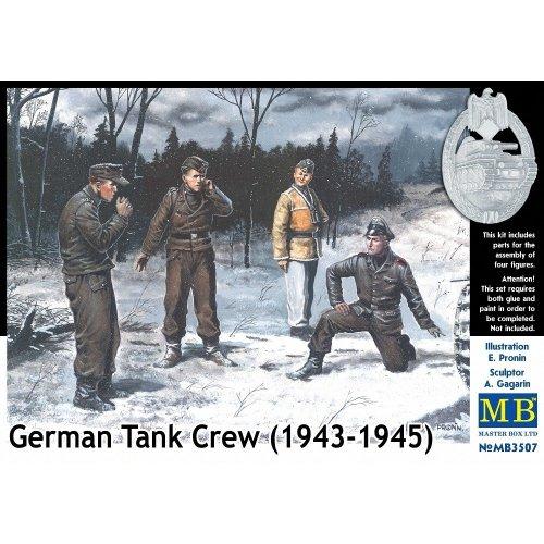 Mas3507 - Masterbox 1:35 - German Tank Crew (1943-1945) Kit No. 1