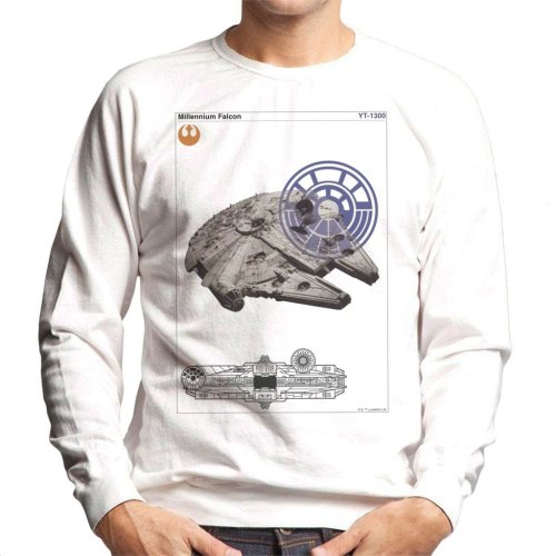 Star Wars Millenniumm Falcon Orthographic Men's Sweatshirt