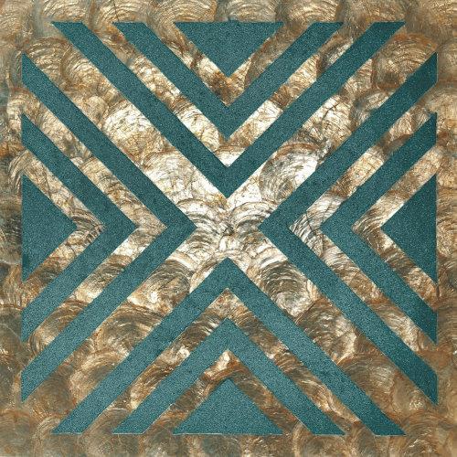 WallFace LU10 wall panel shells glass beads mother-of-pearl bronze green-blue