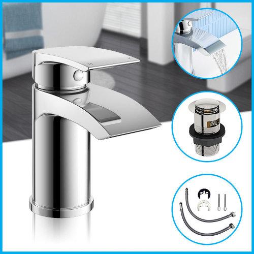 Sleek modern design basin mono mixer tap