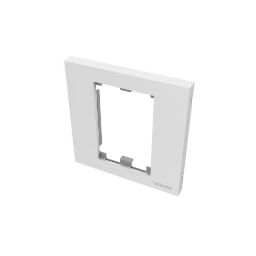 Vision SINGLE-GANG UK SURROUND - WHITE, Single-gang frame which accommodates two modules. Fits to any stand