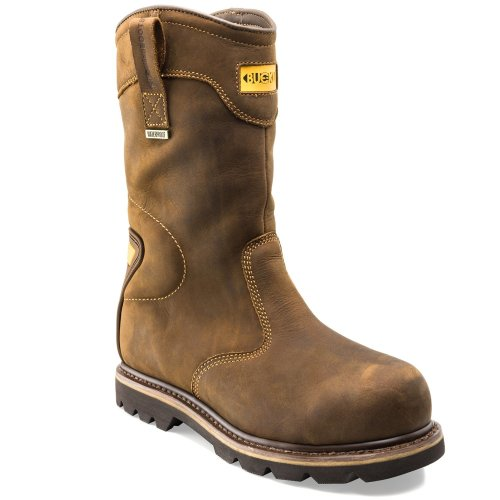 Buckler B701SMWP Waterproof Rigger Men's Brown Safety Work Boots (Sizes 6-13)