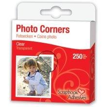 "3/8"" Clear 250 Piece Photo Corners Set -  photo corners scrapbook adhesives clear selfadhesive 375 250pkclear 250pcs"