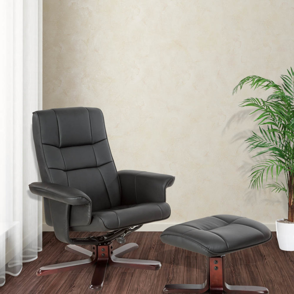 TV Armchair With Stool Model 1 Black/brown