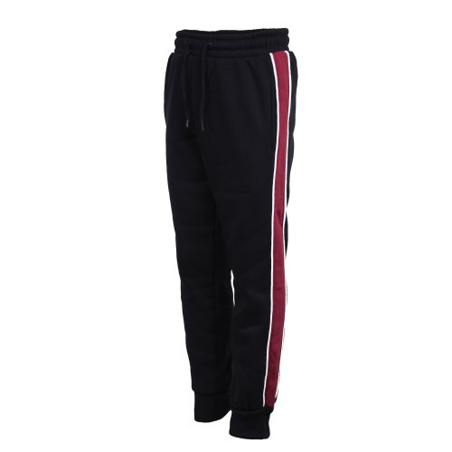 Kids Tracksuit Bottoms HG-136 With Side Stripes in Black 3-4 Years