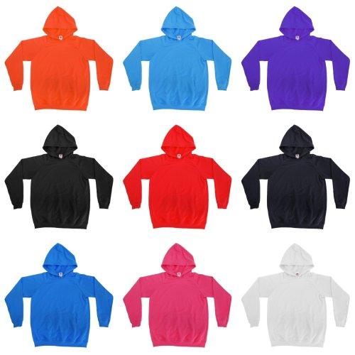 Fruit Of The Loom Childrens Unisex Lightweight Hooded Sweatshirt / Hoodie