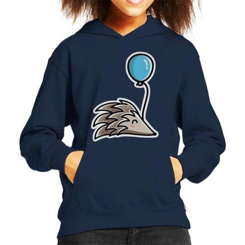 Hedgehog With A Balloon Kid's Hooded Sweatshirt