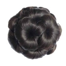 Fake Hair Bun with Hair Clip, Easy to Wear [Black Brown]
