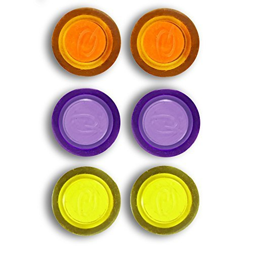 Rexel Magnets, Assorted Colours (Pack of 6)