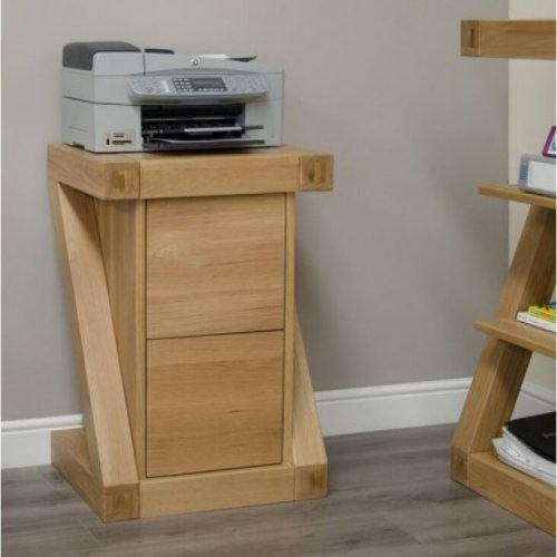 Homestyle Z Solid Oak Furniture Oak Filing Cabinet