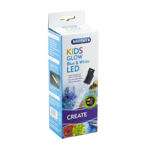 Interpet Lamp Kids Aquarium Led Glow White & Blue