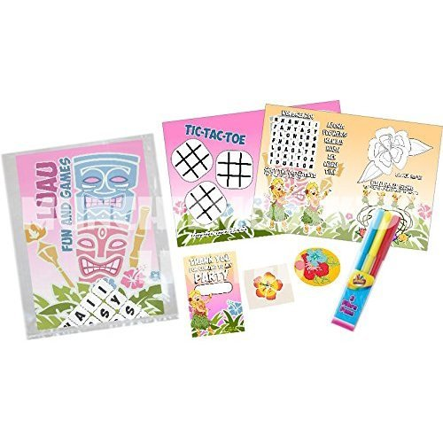Pre-Filled Luau Hawaiian Party Bags | Children's Birthday Goodie Bags
