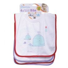 Dreambaby Pull over Bibs - 4 Pack (owls and Whales)