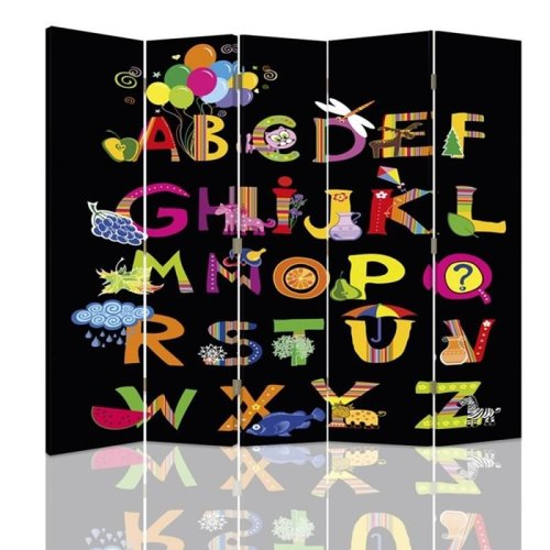 Party Time Alphabet Screen/Room Divider