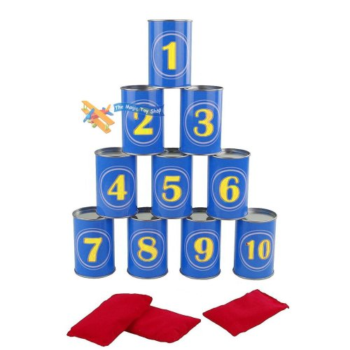 Set of 13 Pieces Crazy Can Alley Fairground Target Game