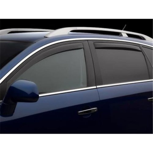 Weathertech W24-82501 Front & Rear Side Window Deflectors for 2009-2016 Audi A4, Dark Smoke