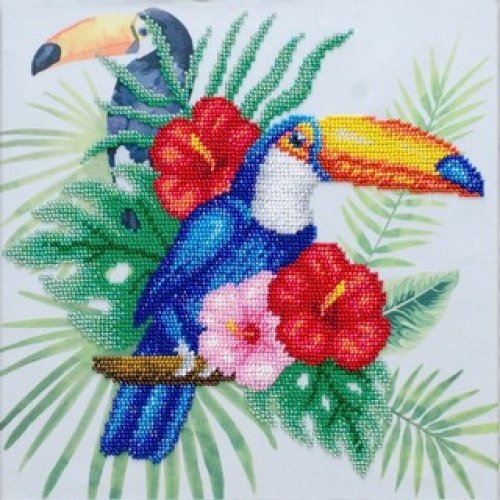 VDV Bead Embroidery Kit - Toucans
