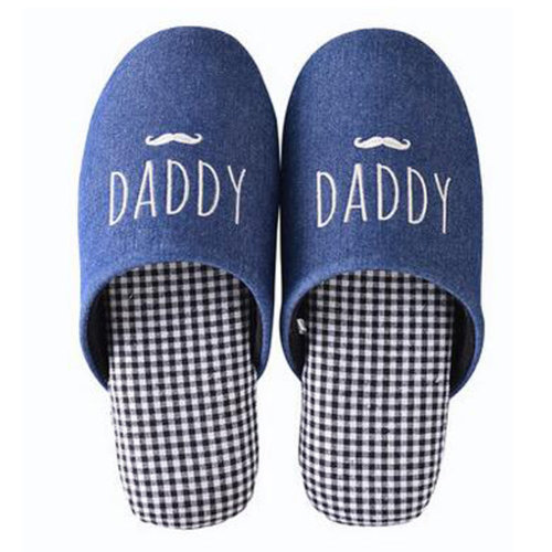 Family Winter Warm & Cozy  Indoor Shoes Couples Cartoon House Slipper, F