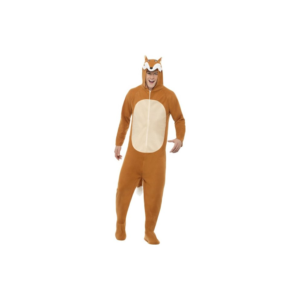 Adults All In One Fox Costume - fox costume fancy dress mens outfit ...