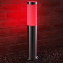 Auraglow IP44 Stainless Steel Outdoor Garden Path Post Light - 4w Red Filament LED Light Bulb Included