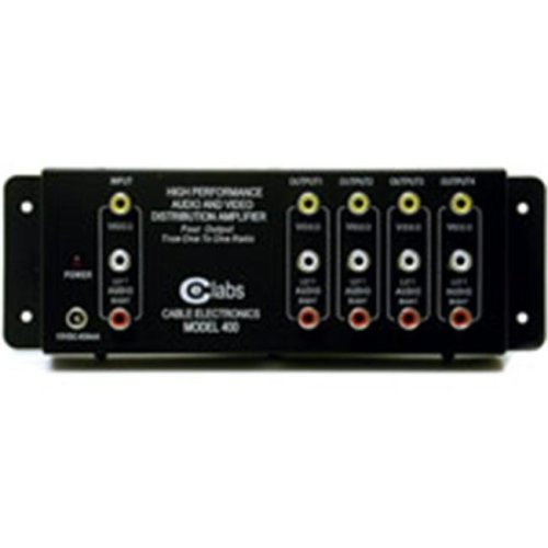 Cables To Go 41066 4-OUTPUT RCA AUDIO-VIDEO DISTRIBUTION AMPLIFIER