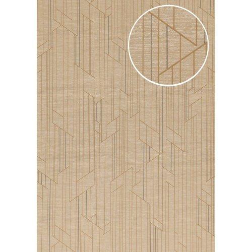 ATLAS XPL-565-7 Graphic wallpaper shimmering cream beige 5.33 sqm