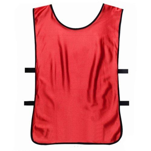 Set of 6 Basketball/Soccer Training/Scrimmage Vests Basketball Jersey, RED