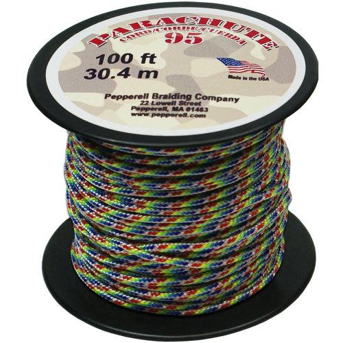 Parachute Cord 1.9mmX100'-Rainbow