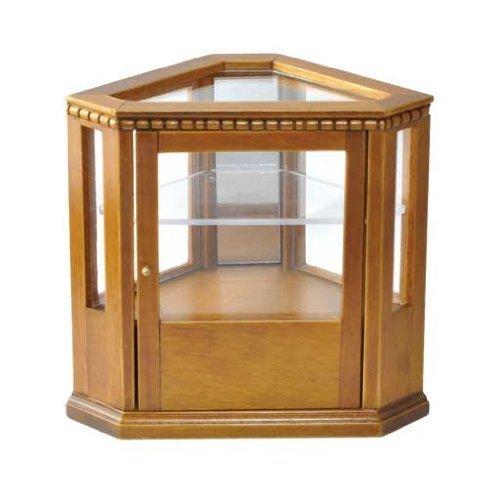 Dollhouse Miniature Walnut Corner Display Case