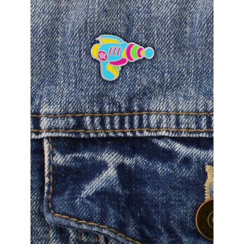 Grindstore Retro Space Gun Enamel Pin Badge