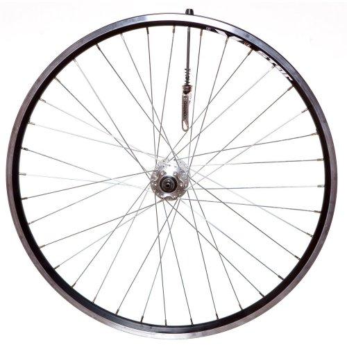 """Front 26"""" X-STAR MTB Wheel BLACK Disc hub Stainless steel spokes (INC Skewer)"""