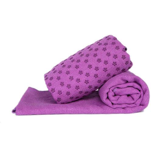 Indoor Sport Non-slip Yoga Sheet Blanket Yoga Towel Yoga Accessory 183 CM * 63 CM-Purple