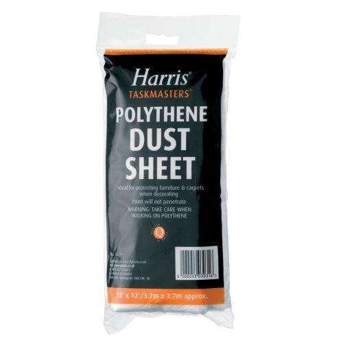Harris Taskmasters 12'x12' Polythene Dust Sheet …