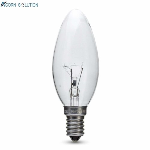 6x Clear Candle 40W E27 Edison Screw Candle Light Bulbs ES Dimmable