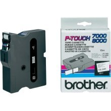Brother TX-241 Black on white TX label-making tape