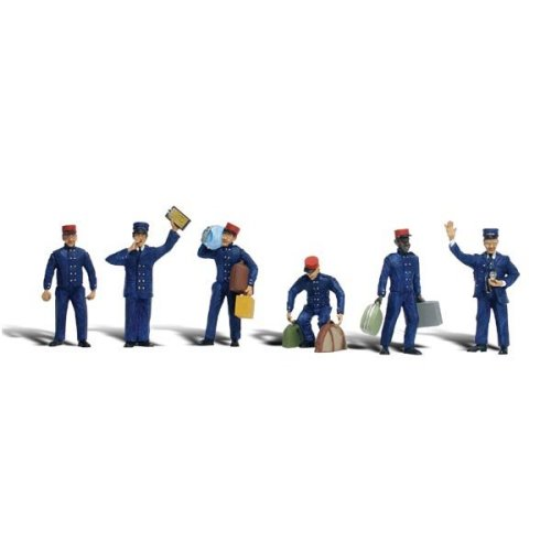 Painted O scale Train Personnel (O figures) Woodland Scenics A2722 - free post