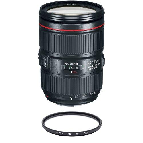 CANON EF 24-105mm F4L IS II USM (White Box) + HOYA UX UV 77mm Filter