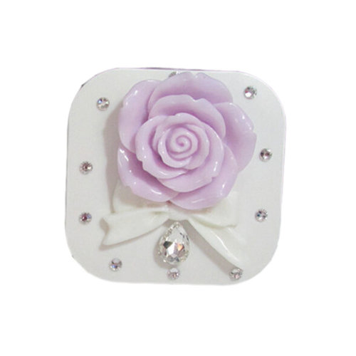 [PURPLE ROSE Bowknot] Special DIY Contact Lenses Box Case/Holders Container
