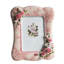 6-inch Photo Frame Vintage Style Rose Photoframe and Home Decoration