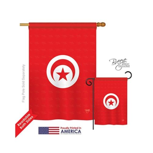 Breeze Decor 08251 Tunisia 2-Sided Vertical Impression House Flag - 28 x 40 in.