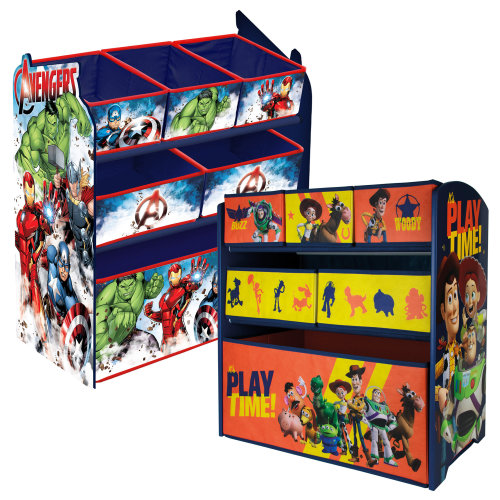 6 Drawer Disney & Marvel Wooden Rack Organiser