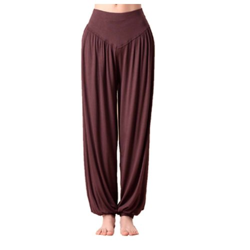 Solid Modal Cotton Soft Yoga Sports Dance Fitness Trousers Harem Pants, P