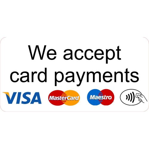 We Accept Card Payments Large Sticker Shop Business Trade Trader Till Payment Sticker Laminated.