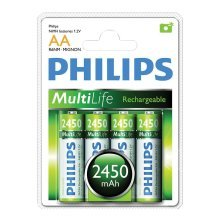 Philips Rechargeable Batteries - Type AA