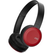 JVC Deep Bass Bluetooth Wireless On Ear Headphone - Red (Model No. HAS30BTRE)