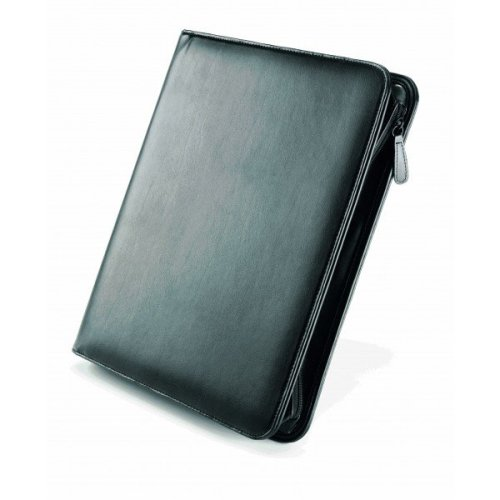 A4 Falcon Bonded Leather Zip Around 4 ring binder - FI6518BL Black