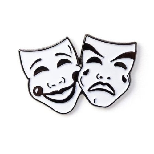 Comedy Tragedy Theatre Mask Lapel Pin Badge