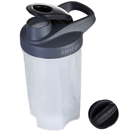 Contigo Shake & Go FIT Gym Sports Protein Shaker Bottle 590ml 20oz w/ Mixer Ball